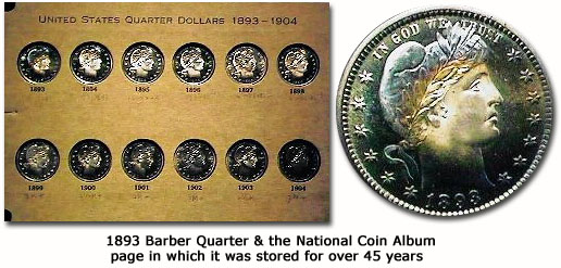 1893-barber-quarter-and-the-national-coin-album-in-which-it was-stored