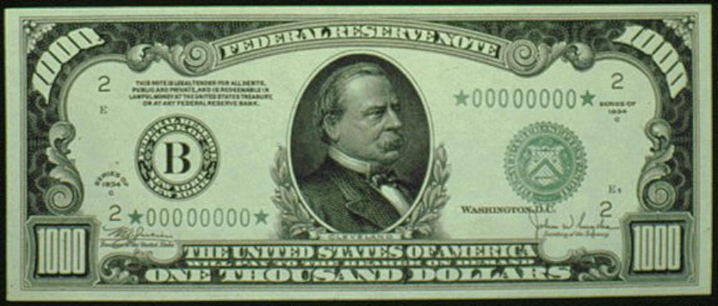 $1000 Bill, Thousand Dollar Bill