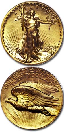 History of the 1907 SAINT-GAUDENS HIGH RELIEF DOUBLE EAGLE