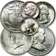 Buying U.S. 90% Silver Coins, dimes, quarters, half dollars